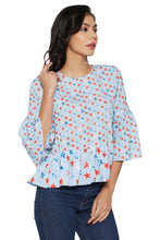 Load image into Gallery viewer, Blue Bell Sleeve Top-4