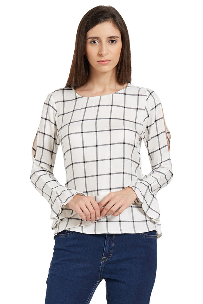 Flared Sleeve Top-1