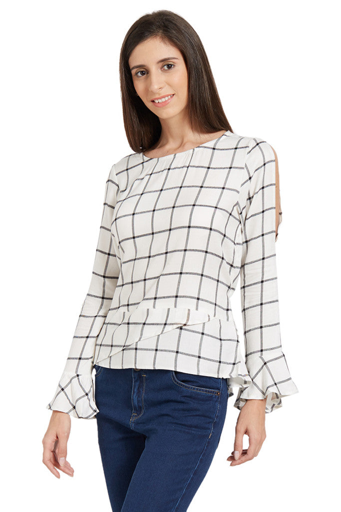 Flared Sleeve Top-2