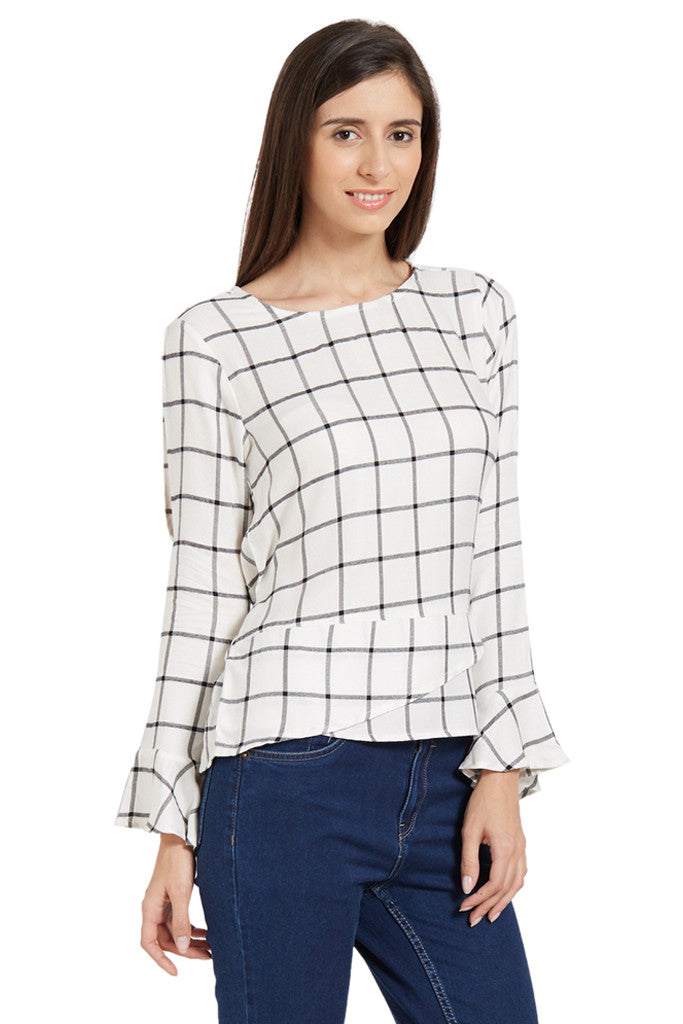 Flared Sleeve Top-4