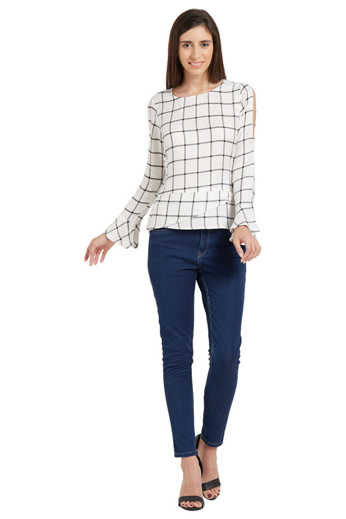 Flared Sleeve Top-5