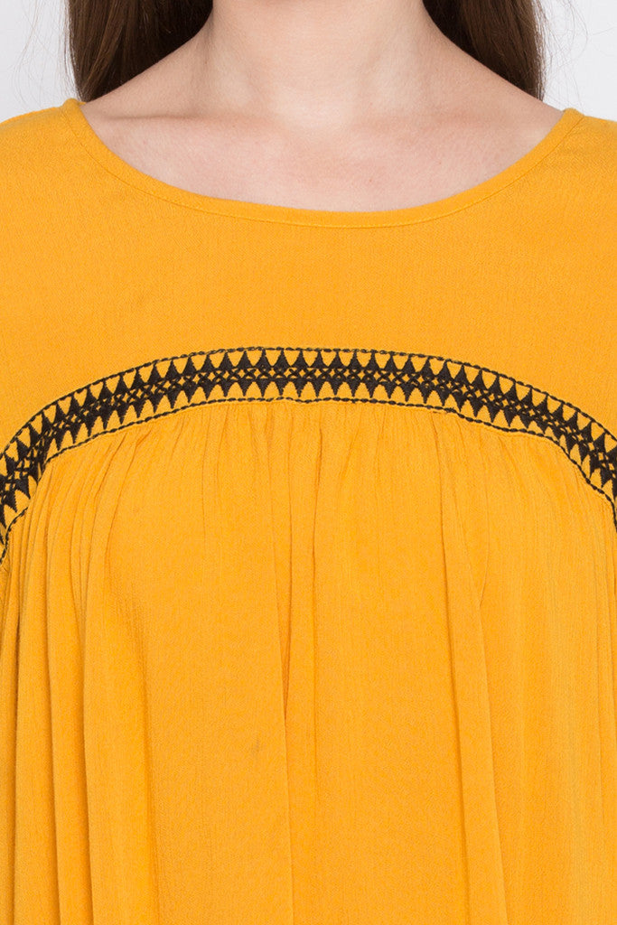 Embroidered Front Yoke Top-5