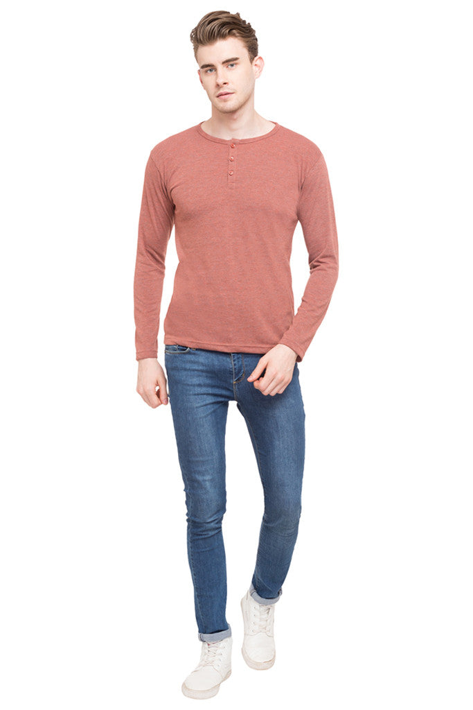 Henley Neck T-shirt-2