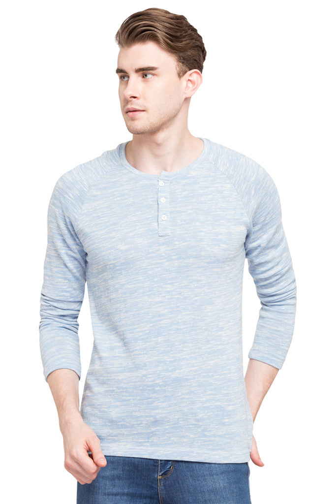 Henley Neck T-shirt-1