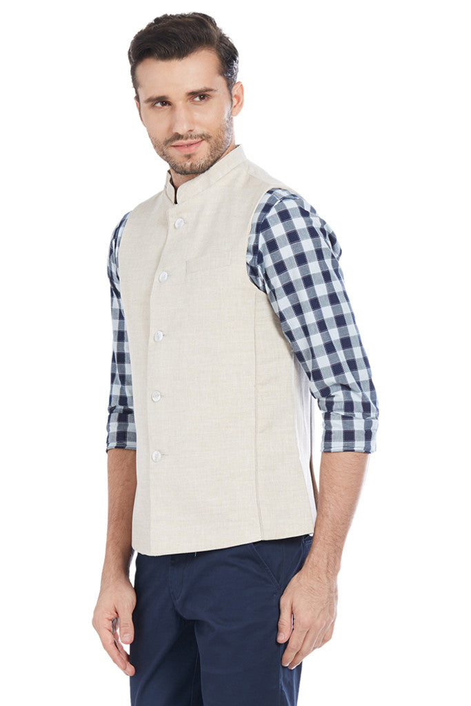 Beige Jacket for Men-2