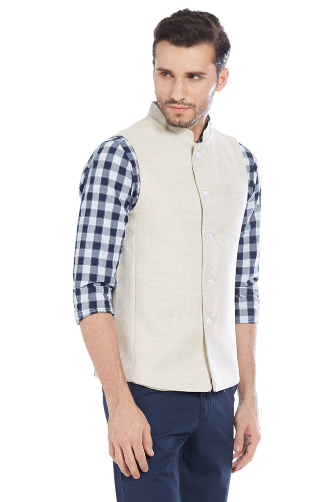 Beige Jacket for Men-4