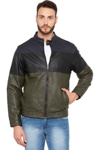 Load image into Gallery viewer, Olive Colorblocked Full Sleeve Jacket-1