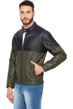 Load image into Gallery viewer, Olive Colorblocked Full Sleeve Jacket-4