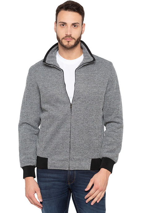 Full Sleeved Grey Bomber Jacket-1