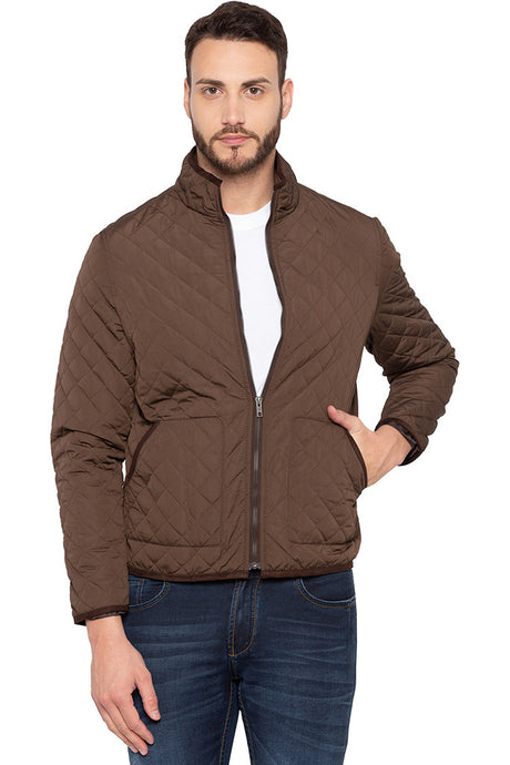 Quilted Brown Jacket-1