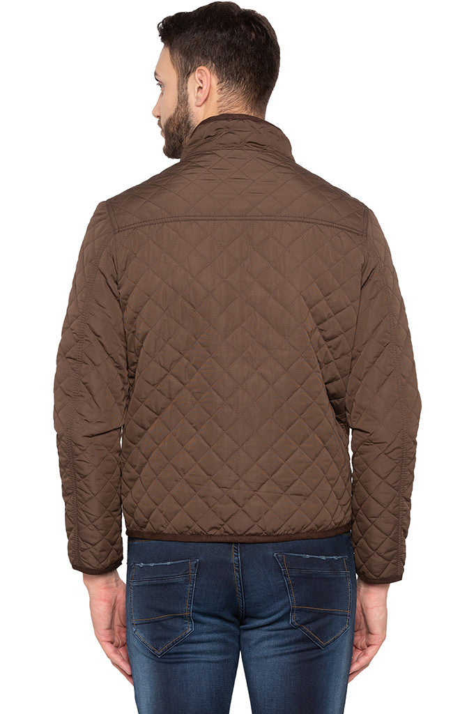 Quilted Brown Jacket-3