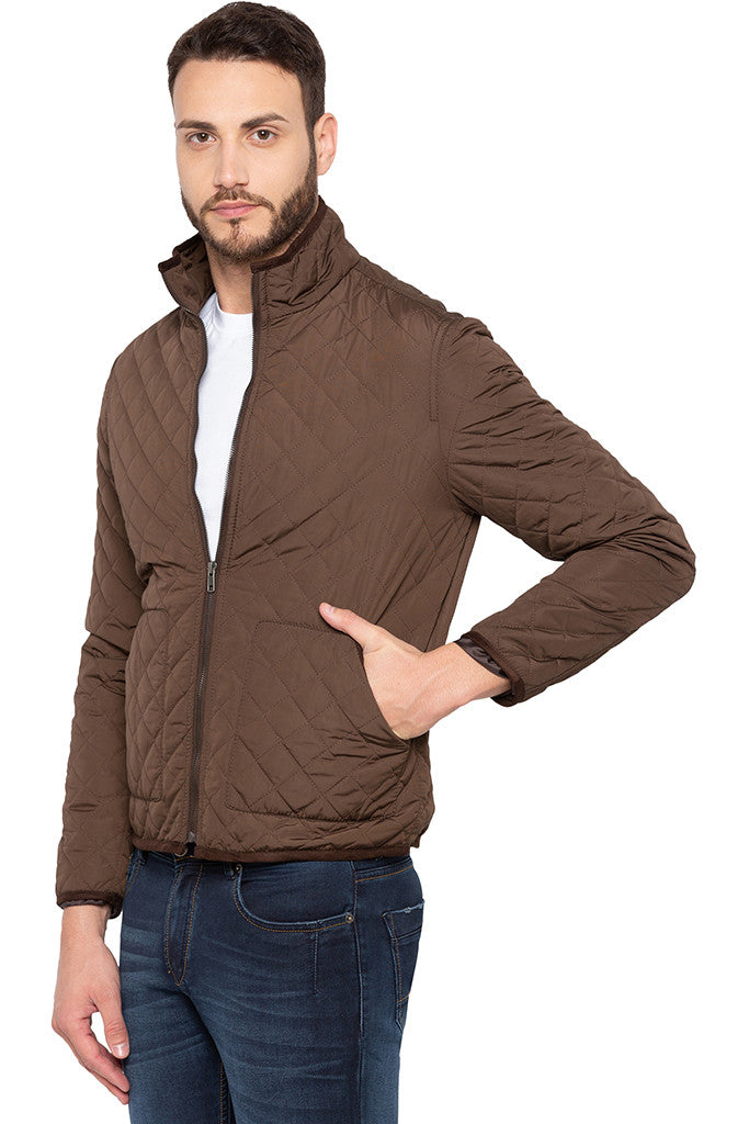 Quilted Brown Jacket-4