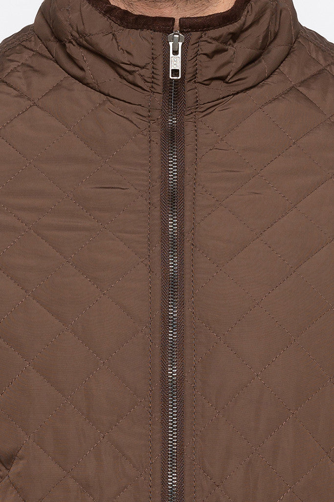 Quilted Brown Jacket-5