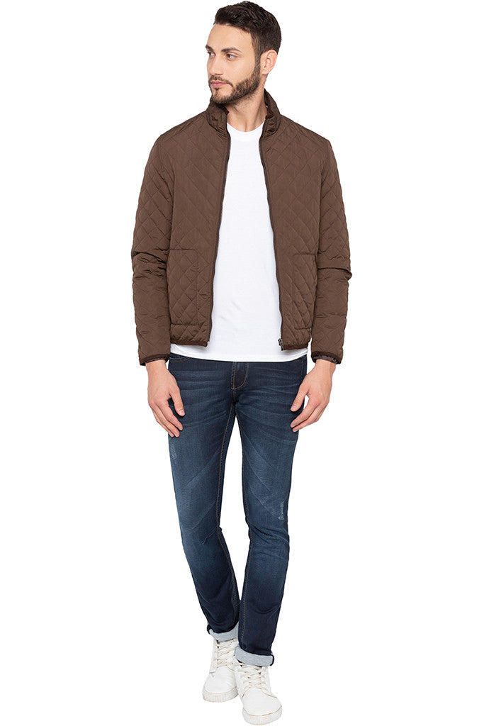 Quilted Brown Jacket-6