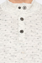 Load image into Gallery viewer, Henley Neckline Off White Sweater-5