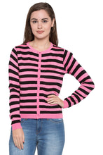 Load image into Gallery viewer, Crop Striped Cardigan-1