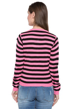 Load image into Gallery viewer, Crop Striped Cardigan-3