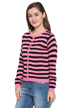 Load image into Gallery viewer, Crop Striped Cardigan-4