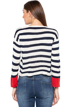 Load image into Gallery viewer, Off White Navy High Low Pullover-3