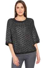 Load image into Gallery viewer, Black Raglan Sleeve Pullover-1