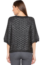 Load image into Gallery viewer, Black Raglan Sleeve Pullover-3