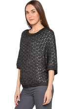 Load image into Gallery viewer, Black Raglan Sleeve Pullover-4