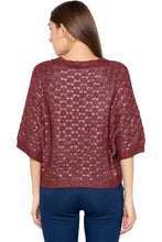 Load image into Gallery viewer, Wine Raglan Sleeve Pullover-3