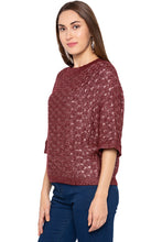 Load image into Gallery viewer, Wine Raglan Sleeve Pullover-4