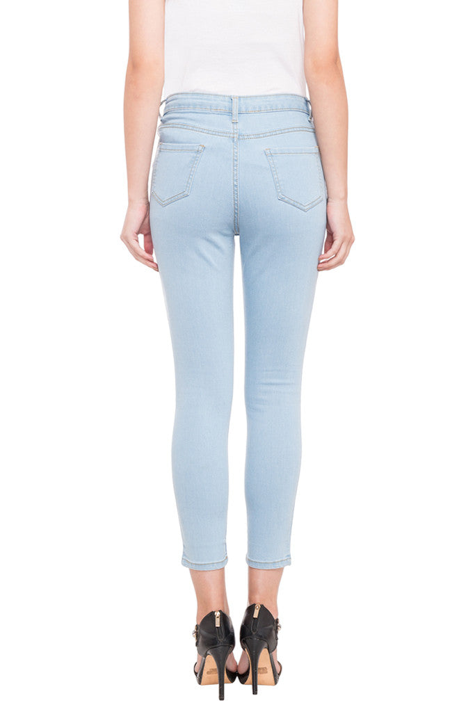 Ankle Length Knee Print Denims-3