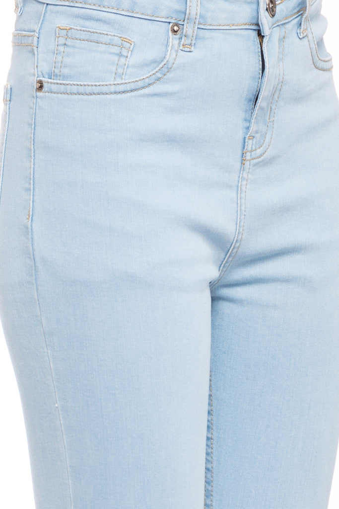 Ankle Length Knee Print Denims-6