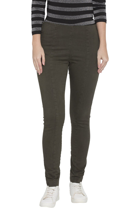 Olive Jeggings-1