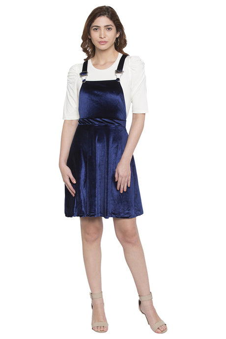 Velvet Dungaree Dress-1