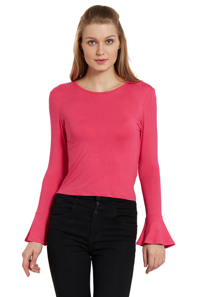 Fitted Bell Sleeved Top-1