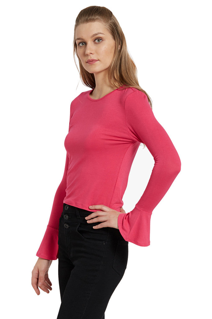 Fitted Bell Sleeved Top-2