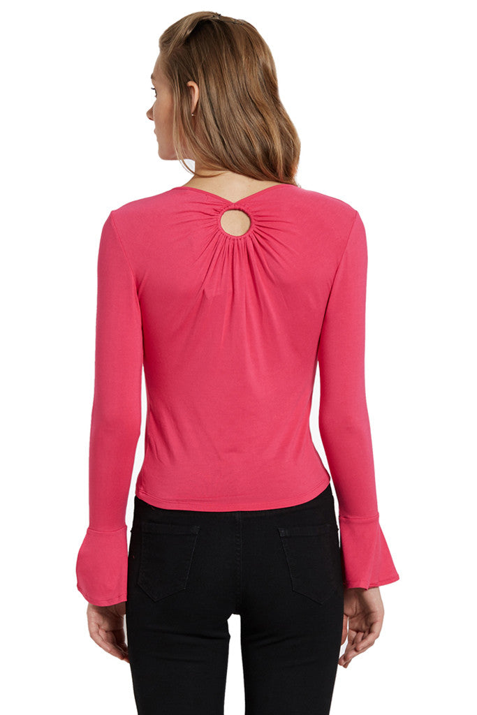 Fitted Bell Sleeved Top-3