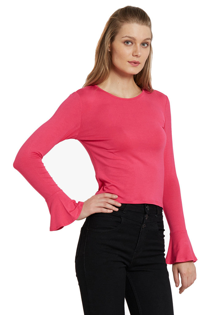 Fitted Bell Sleeved Top-4