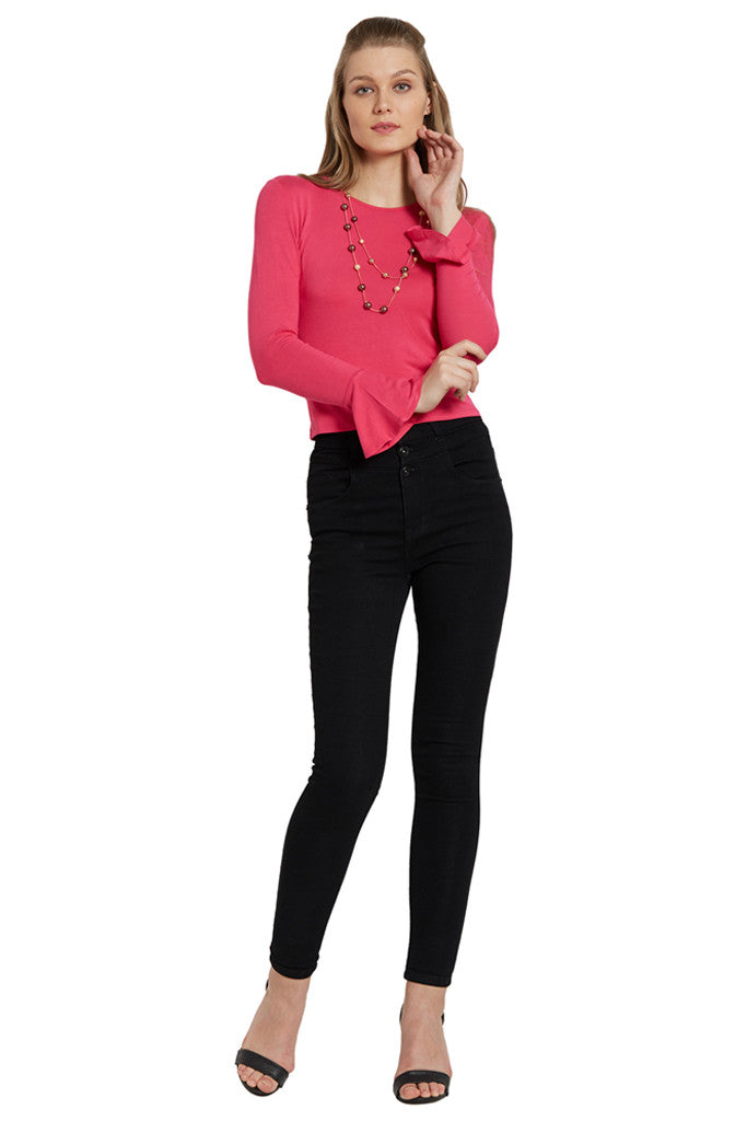 Fitted Bell Sleeved Top-5