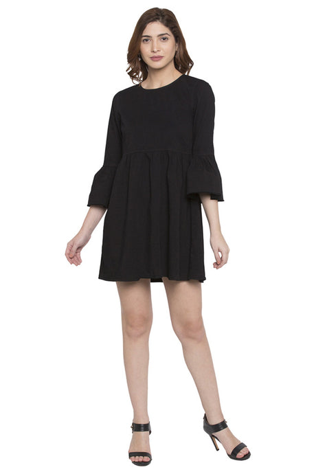 Fit to Flare Bell Sleeve Dress-1