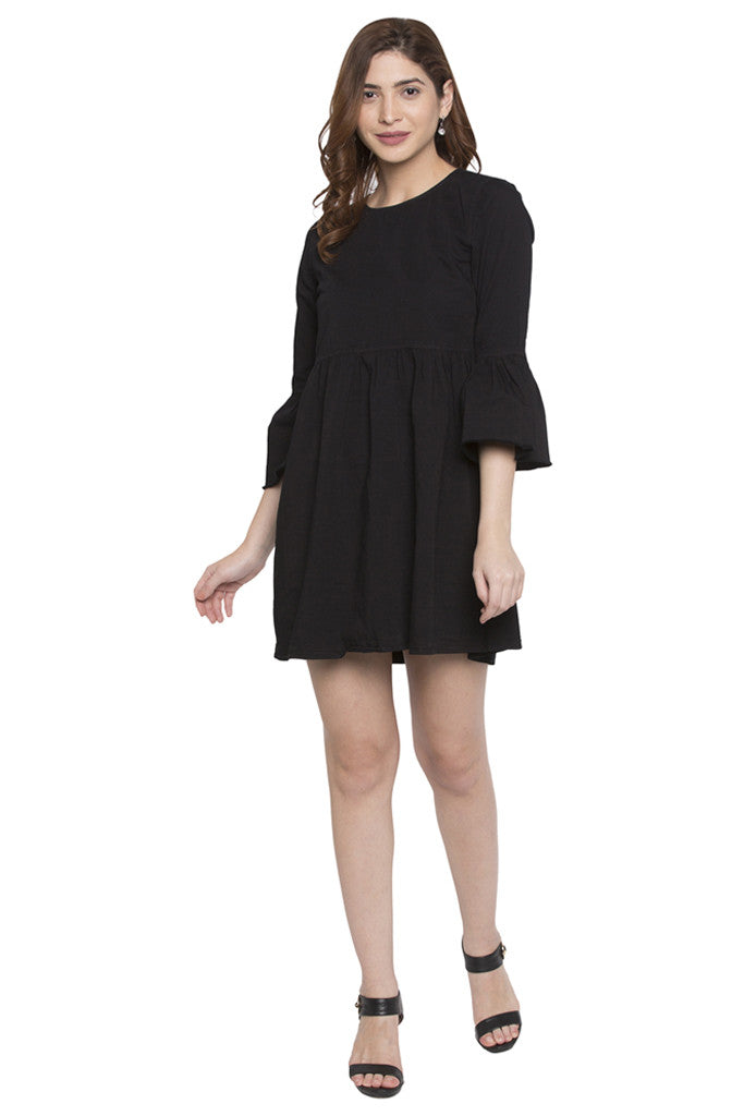 Fit to Flare Bell Sleeve Dress-2