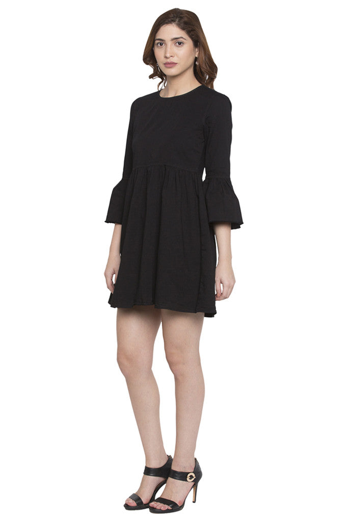Fit to Flare Bell Sleeve Dress-4