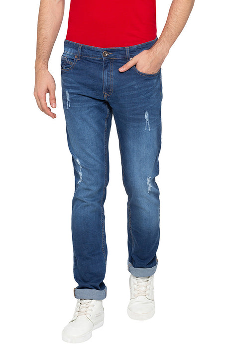 Dark Wash Distressed Denims-1