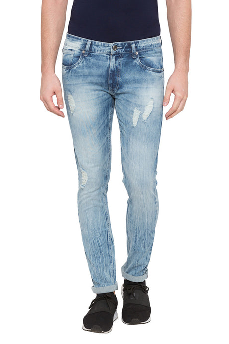 Cloud Wash Slim Fit Denims-1