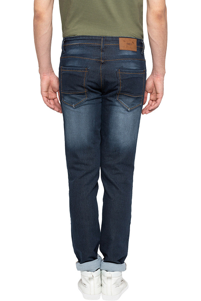 Dark Wash Slim Fit Denims-3