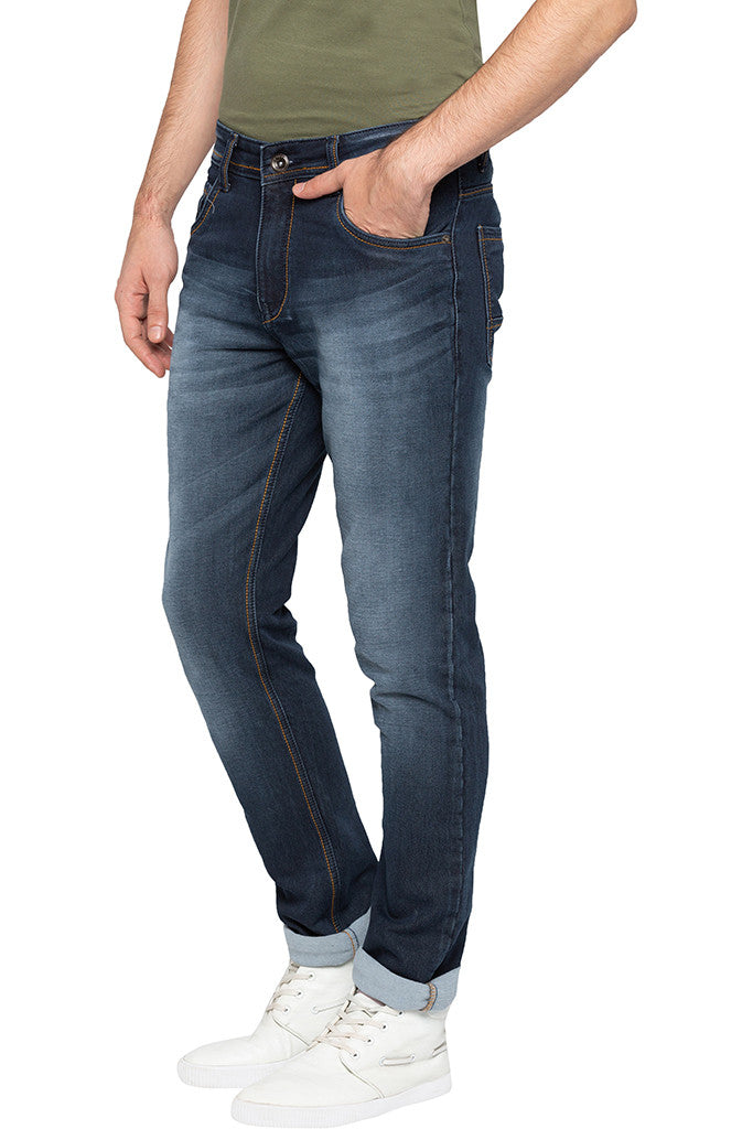 Dark Wash Slim Fit Denims-4
