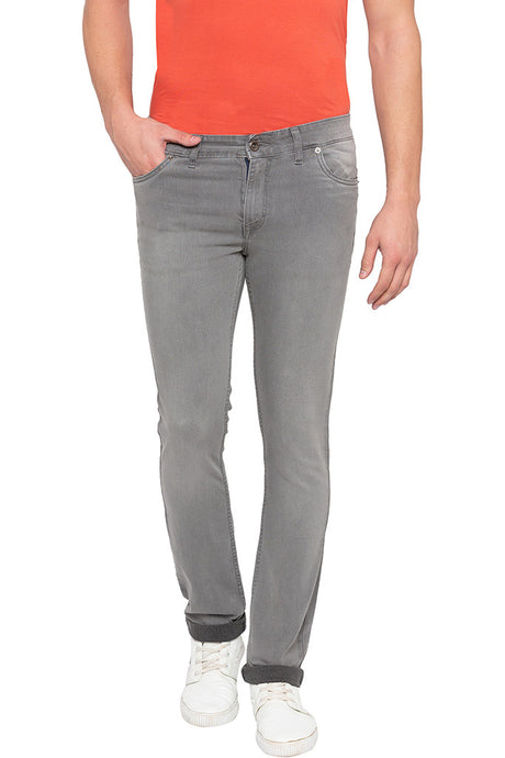 Slim Fit Grey Denims-1