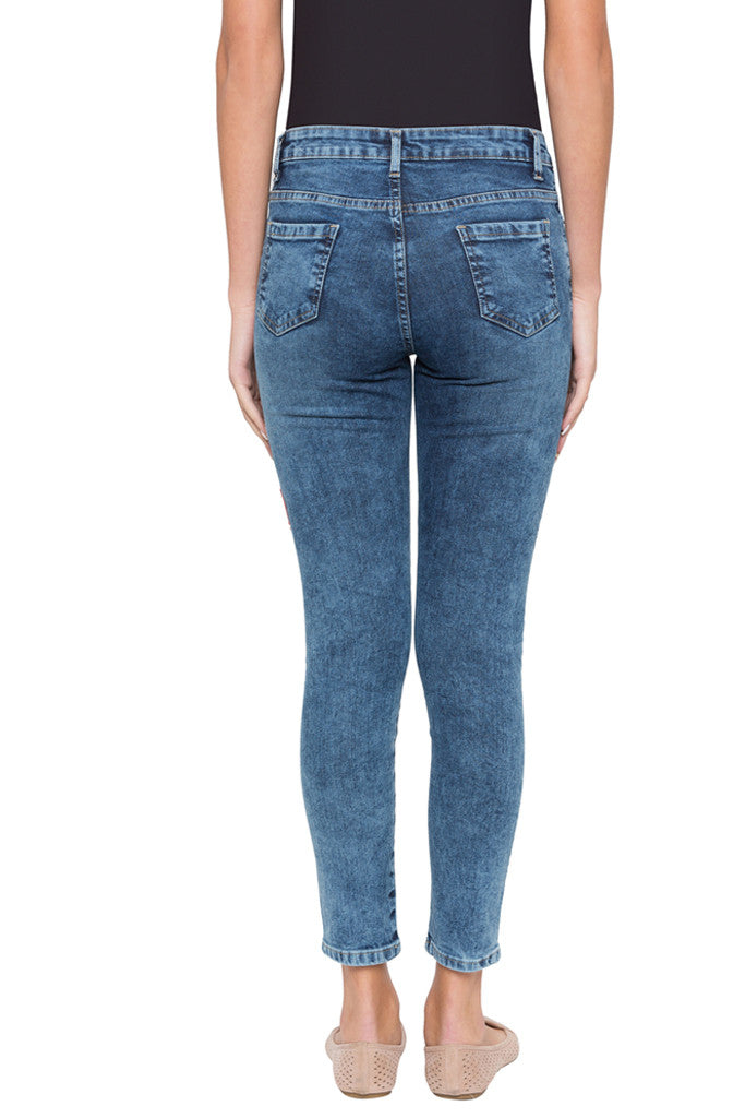 Skinny Fit Embroidered Denims-3