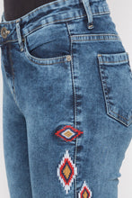 Load image into Gallery viewer, Skinny Fit Embroidered Denims-5