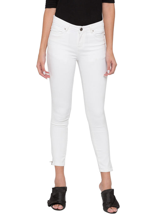 Side Zipper Cropped Skinny Fit Denims-1