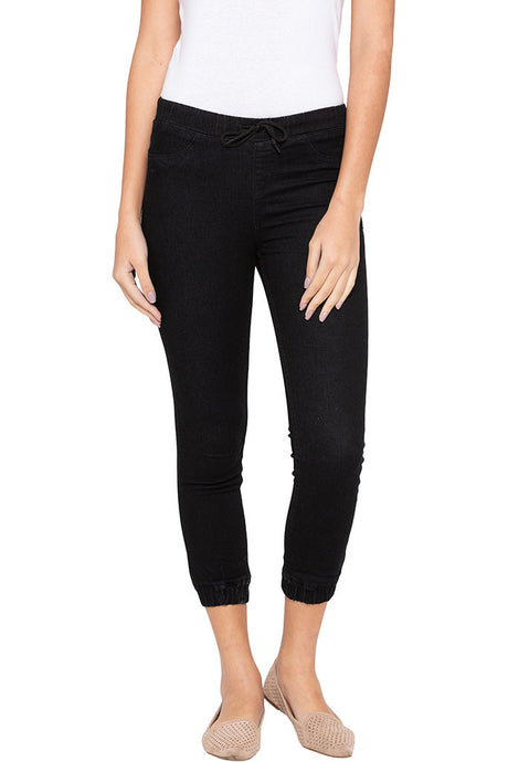 Joggers Fit Cropped Denims-1