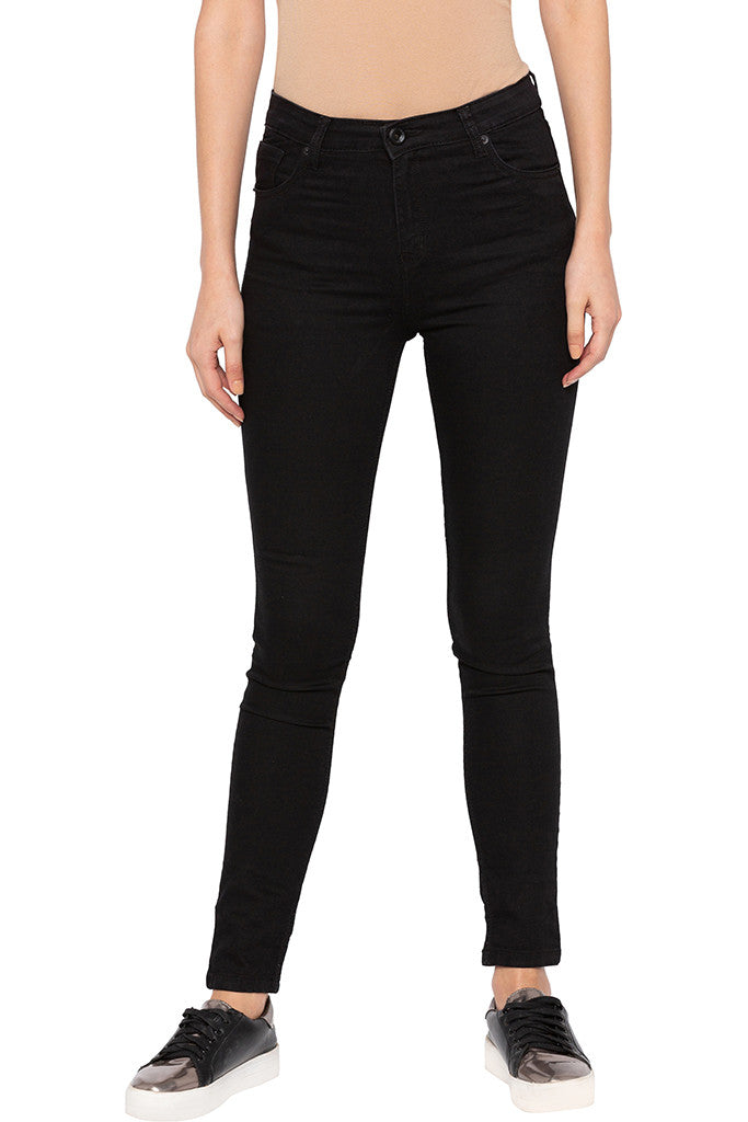 Black Skinny Fit High-rise Denims-1